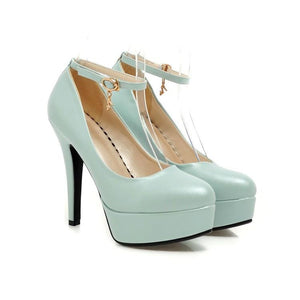 Ankle Strap Ultra-high Heel Women Platform Pumps