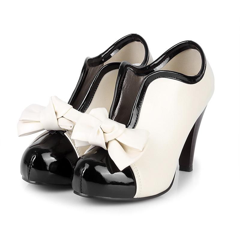 Women's Bow Tie High Heeled Shoes