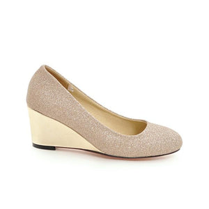 Girls Spring Autumn Wedges Sequins Shallow Mouth Woman's Pumps