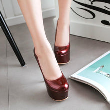 Load image into Gallery viewer, Super Stiletto Heel  Club Platform Pumps