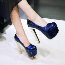 Load image into Gallery viewer, Super High Heeled Club Platform Pumps