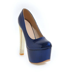 Super High Heeled Club Platform Pumps