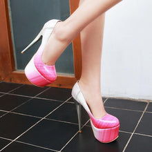 Load image into Gallery viewer, Club Platform Pumps Stiletto Heel Wedding Shoes