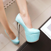 Load image into Gallery viewer, Sexy Nightclub Super Stiletto Heel  Stiletto Heel  Platform Pumps