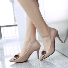 Load image into Gallery viewer, Sexy Pointed Toe Bow Tie Stiletto Heels Bridal Shoes Women Pumps