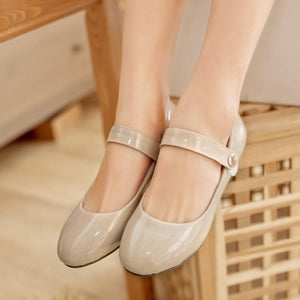 Girls Woman's Leisure School Flat Shoes