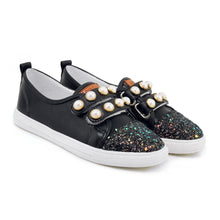 Load image into Gallery viewer, Girls Woman's Pearl Flats Shoes