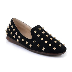 Girls Woman's Rivet Flat Shoes