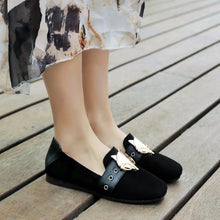 Load image into Gallery viewer, Girls Woman's Loafers Metal Decorative Flats Shoes