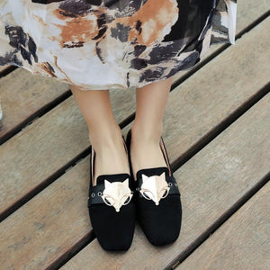 Girls Woman's Loafers Metal Decorative Flats Shoes