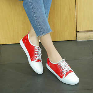 Girls Woman's Rhinestone Color Matching Flats Shoes