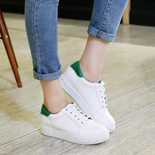 Load image into Gallery viewer, Girls Woman's Leisure Flat Bottom White Shoes