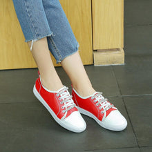 Load image into Gallery viewer, Girls Woman's Rhinestone Color Matching Flats Shoes