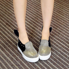 Load image into Gallery viewer, Girls Woman's Loafers Sequins Flats Shoes