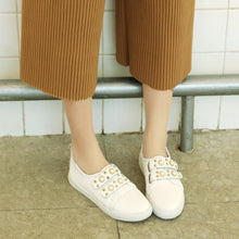 Load image into Gallery viewer, Girls Woman's Loafers White Flats Shoes