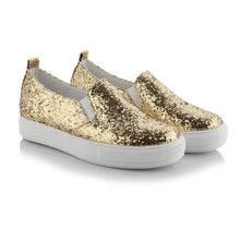 Load image into Gallery viewer, Girls Woman's Sequin Platform Flat Shoes