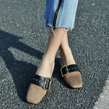 Load image into Gallery viewer, Girls Woman's Loafers Square Head  Flats Shoes