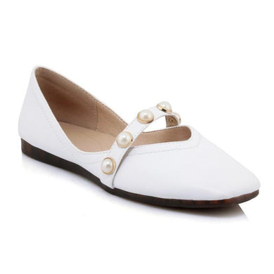 Girls Woman's Loafers Square Toe Flats Shoes