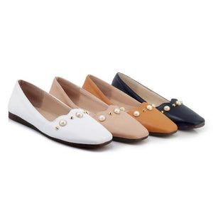 Girls Woman's Loafers Shallow-mouth Flats Shoes