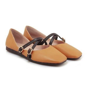 Girls Woman's Shallow-mouthed Flats Shoes