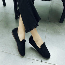 Load image into Gallery viewer, Girls Woman's Loafers Wool Warm Flats Shoes