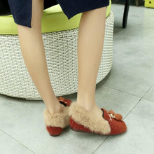 Load image into Gallery viewer, Girls Woman's Loafers Leisure Sueded Flats Shoes