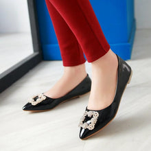 Load image into Gallery viewer, Woman's Rhinestone Low Heels Shoes