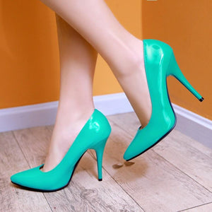 Shallow Mouth Ultra Stiletto Heel  Pointed Toe Pumps