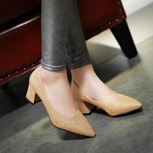 Load image into Gallery viewer, Shallow Mouth Pointed Toe High Heeleds Women Pumps