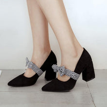 Load image into Gallery viewer, Sweet Bow Chunky Heel Pumps Princess Shoes