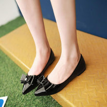 Load image into Gallery viewer, Girls Woman's Shallow Mouth Bow Flat Shoes