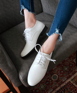 Woman's Casual Lace Up Low Heels Shoes