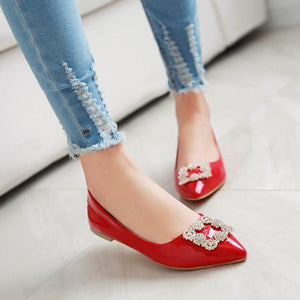 Woman's Rhinestone Low Heels Shoes