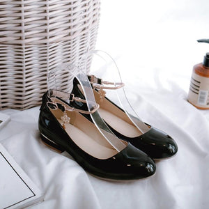 Woman's Square Low Heels Shoes