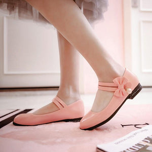 Woman's Sweet Bow Low Heels Shoes