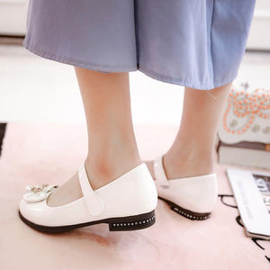 Woman's Bow Low Heels Shoes