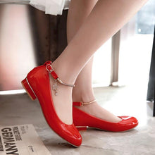 Load image into Gallery viewer, Woman's Square Low Heels Shoes