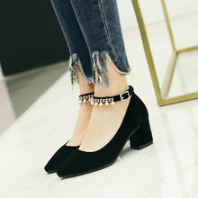 Load image into Gallery viewer, Women's Wedding Shoes Rhinestone High Heel Chunkey Pumps Shoes