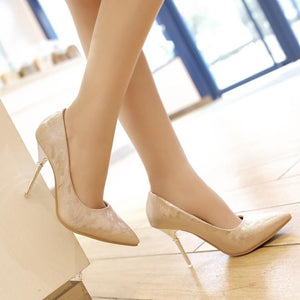 Sexy Pointed Toe Super High Heel Women Pumps