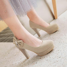 Load image into Gallery viewer, Woman's Platform Pumps High Heeled Bride Wedding Shoes