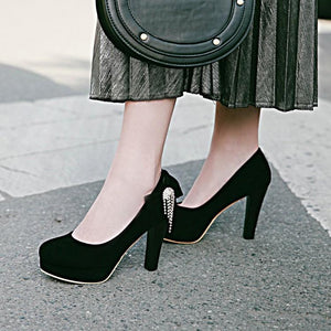 Woman's Platform Pumps High Heeled Bride Wedding Shoes
