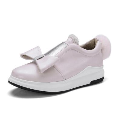 Girls Woman's Sweet Bow Platform Flat Shoes