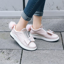 Load image into Gallery viewer, Girls Woman's Sweet Bow Platform Flat Shoes