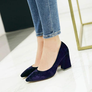 Woman's Pumps Pointed High Heeled