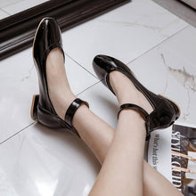 Load image into Gallery viewer, Woman's Buckle Low Heels Shoes
