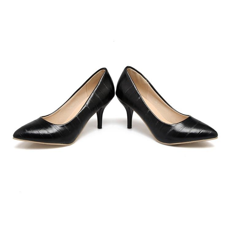 Pointed Shallow Mouth High Heel Women Pumps