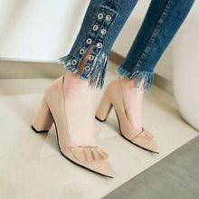 Load image into Gallery viewer, High Heeled Lace Shallow Mouth Elegant Large Size Women Pumps