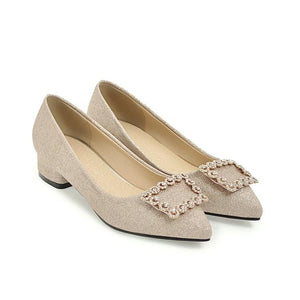 Woman's Shallow Mouth Low Heels Shoes