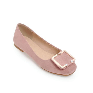 Girls Woman's Square Buckle Flat Shoes