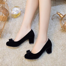 Load image into Gallery viewer, Lady Spring Autumn Thick Heel Bride Shoes Woman Chunkey Heels Pumps